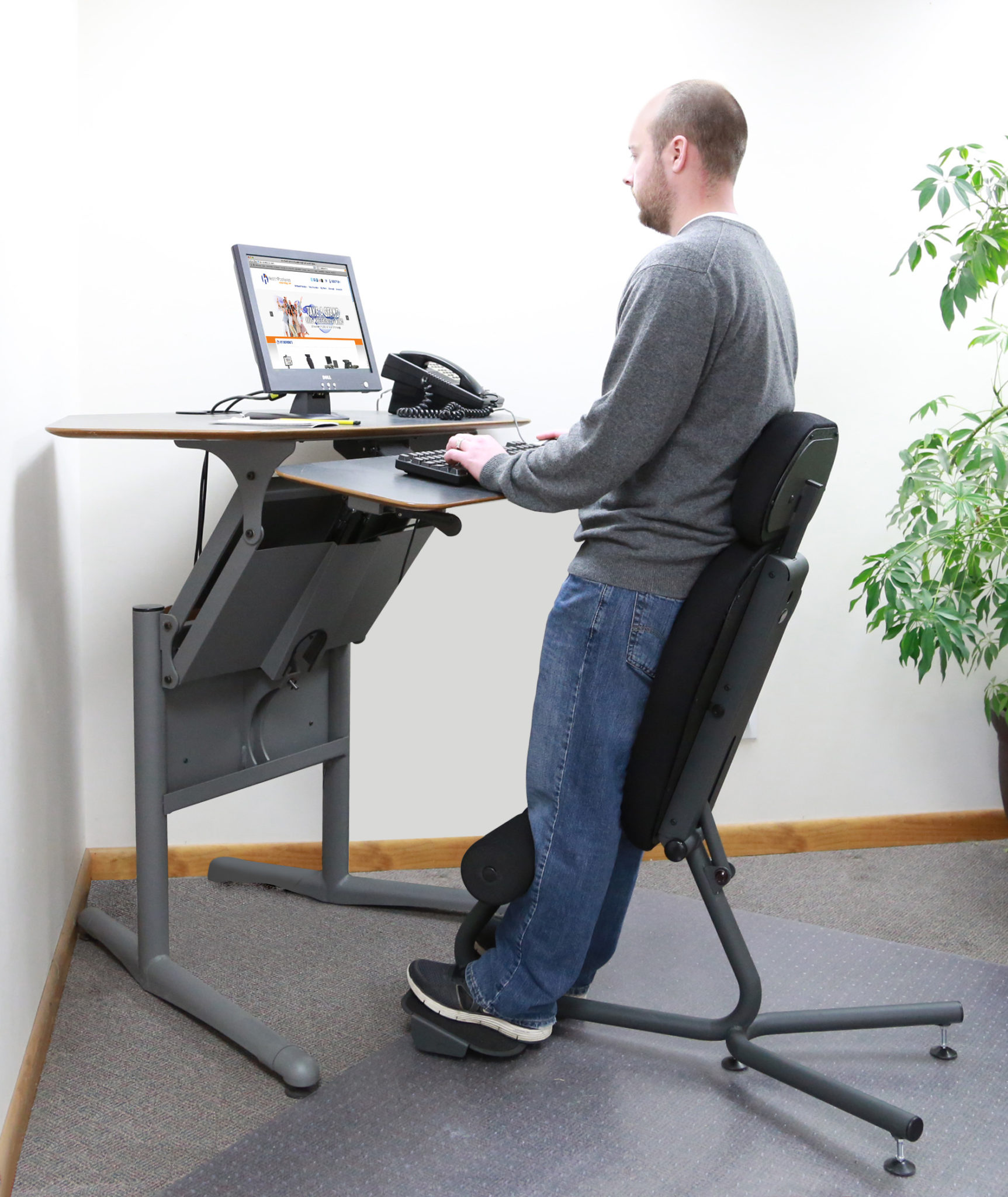 Stance Angle Chair Ergonomic Standing Chair Healthpostures
