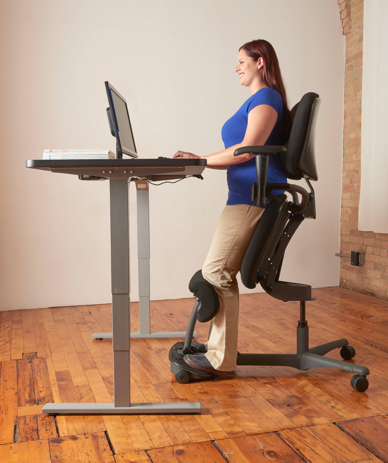 Sitting Chair: Ergonomic Sit Stand Chair